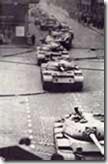 Tanks on streets