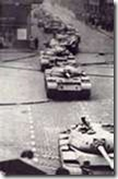 Tanks on streets