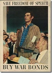 War Bonds Freedom of SPeech Poster