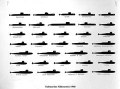 1960 submarine silhouettes