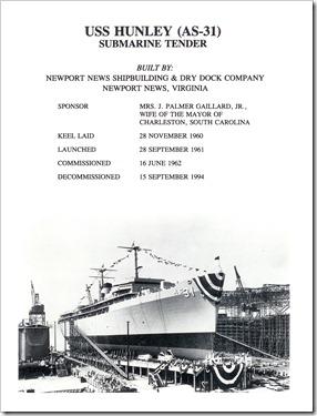 USS Hunley AS-31 (Cold Warrior Extraordinaire) (1/6)