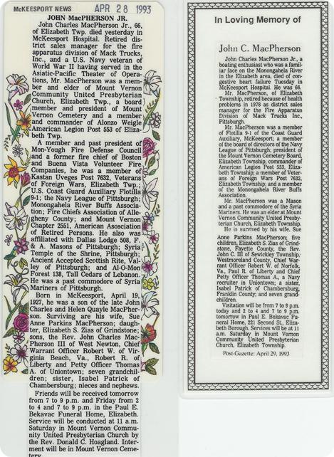 JCM Death Notice