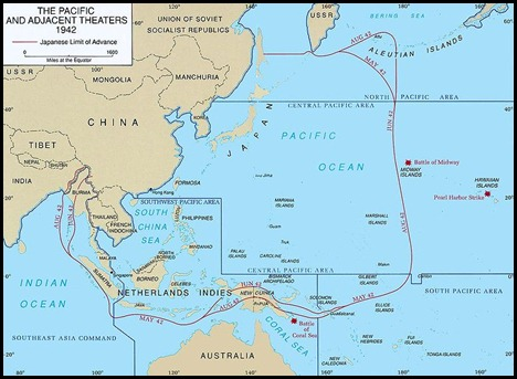 Pacific Theater Map
