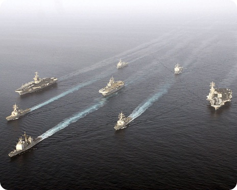 _Stennis_Carrier_Strike_Group,_Nimitz_Carrier_Strike_Group,_and_the_Bonhomme_Richard_Expeditionary_Strike_Group_transits_through_the_Gulf_of_Oman