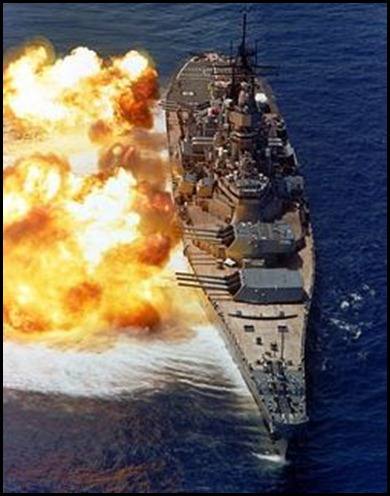 Iowa Class B Ship in action