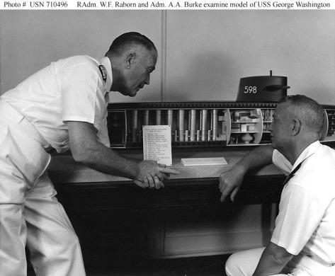 Rear Admiral Rayborn and Admiral Burke