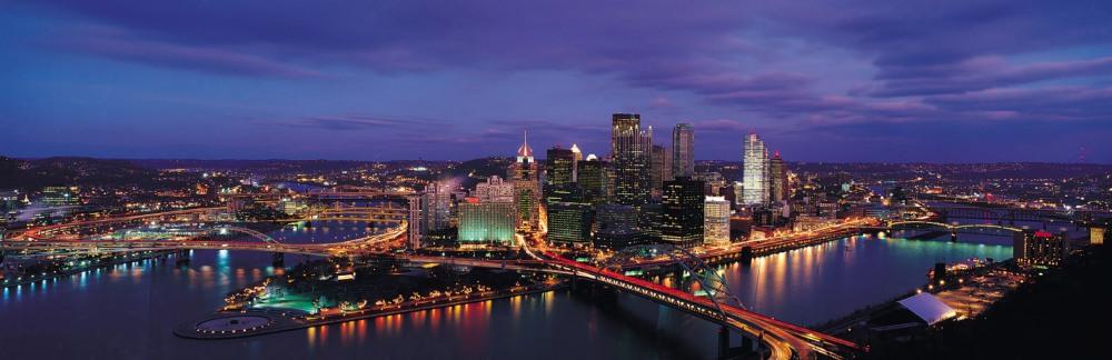 Pittsburgh Skyline from Mount Washington Pennsylvania USA