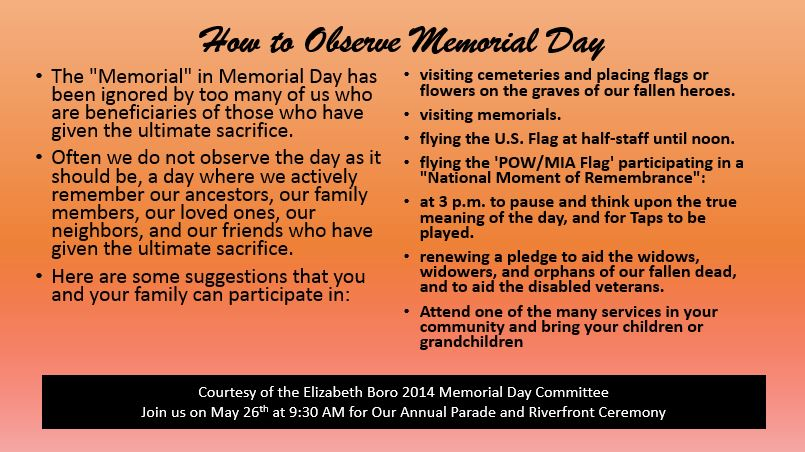 How to Observe Memorial Day