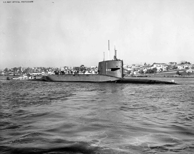 US Naval submarine USS HENRY L STIMSON SSBN 655 -Boomer USN Navy