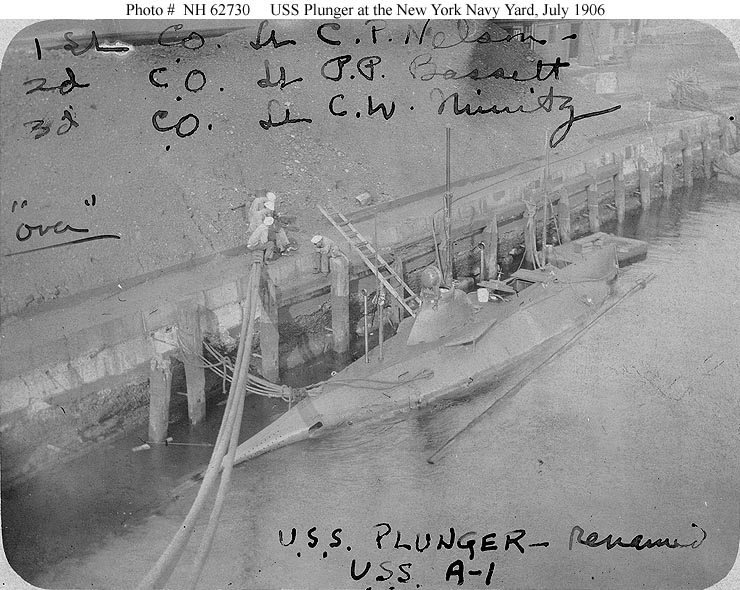 August 21, 1905 – Plunger to Oyster Bay today